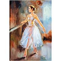 KALABULA Quadro Stampa Decorativa su Tela Cm 50x70 Canvas Poster Tema Musica Danza Classica Balletto Scuola Ballerina TELMU-03