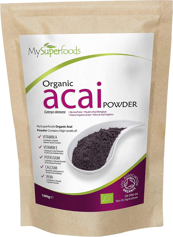 MySuperFoods Acai Orgánico en Polvo 500g, Fuente Natural de Antioxidantes