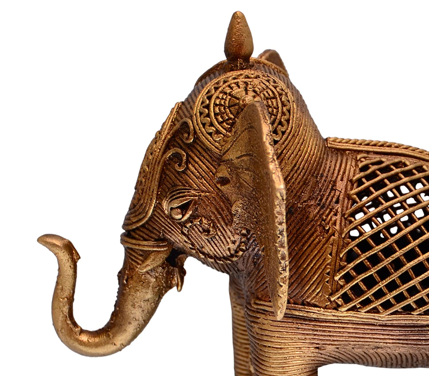 Buy purpledip dhokra art elephant metal statue with feng shui buy purpledip dhokra art elephant metal statue with feng shui vastu significance unique gift showpiece 10705 online at low prices in india amazon biocorpaavc Image collections
