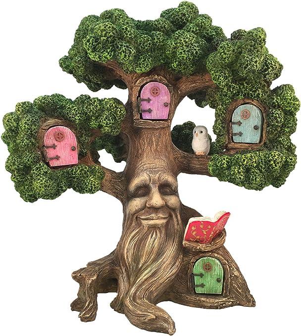 GlitZGlam Encantador Árbol en Miniatura para Jardín de Hadas: el Árbol de Joshua (26.6cm de Alto) para Jardín de Hadas y Gnomos de Césped. El Accesorio Ideal para tu Jardín de Hadas: