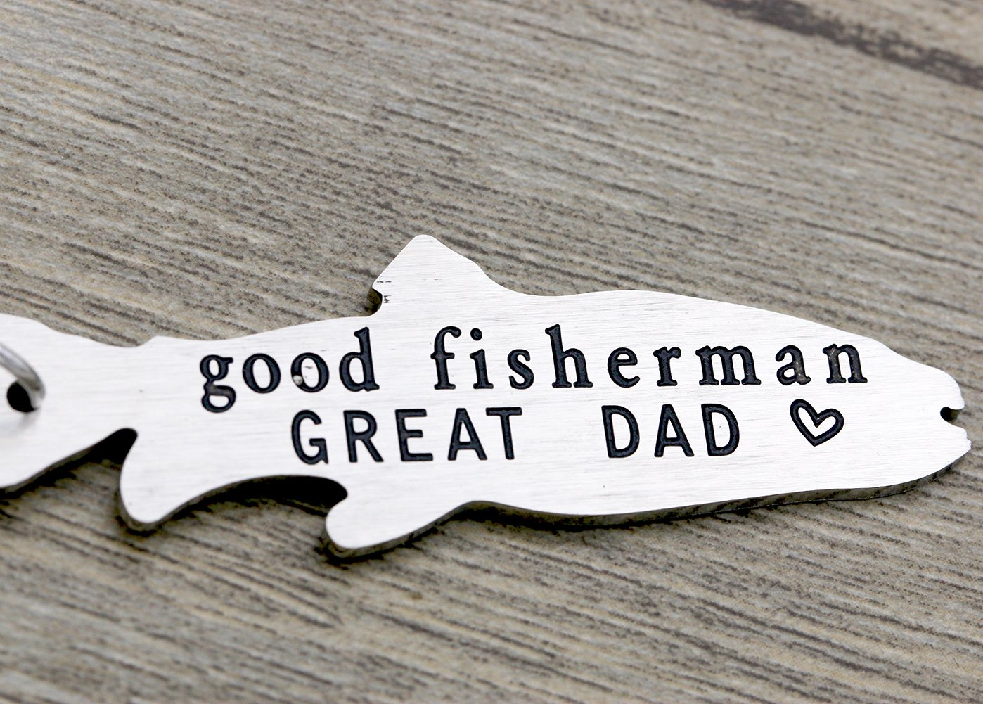Melix Home Good Fisherman GREAT DAD Key Chain Gift for Dad from daughter son, Fathers Day Gift, Birthday Gift Key Ring Key Buckle … by Melix Home (Image #4)