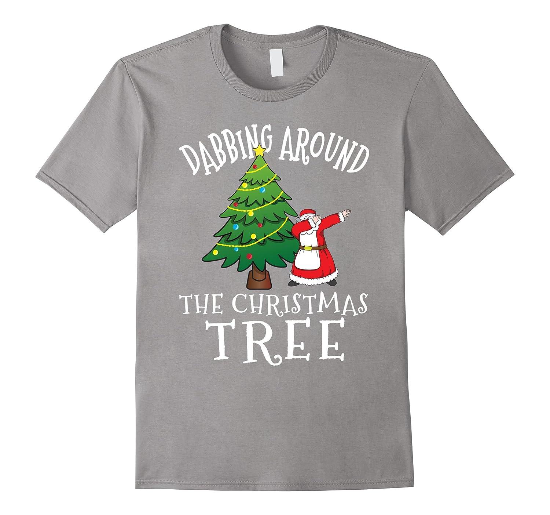 Dabbing Mrs Claus T-Shirt - Santa Claus Christmas Tree Shirt-ANZ