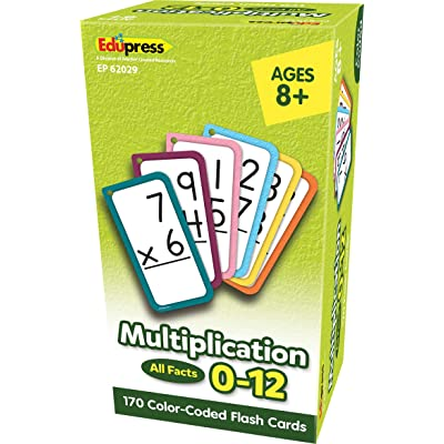 Teacher Created Resources Multiplication Flash Cards - All Facts 0–12 (EP62029): Office Products