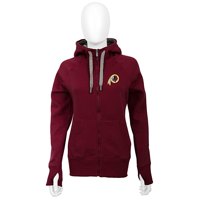 bf56db467 Amazon.com   Washington Redskins Women s Maroon Victory Zip-Up Hooded  Sweatshirt XX-Large   Sports   Outdoors