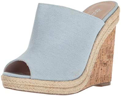ddeffddfde528 CHARLES BY CHARLES DAVID Women s BALEN Wedge Sandal Blue 5.5 Medium US