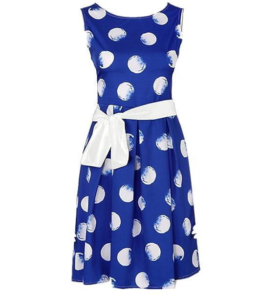 1a87a3cd7ae3 50er jahre kleid,Loveso ❤ Damen A-linie Sommerkleid 1950er Jahre Audrey  Hepburn Vintage Kleid Rockabilly Cocktail Partykleid Polka Dot  Amazon.de   ...