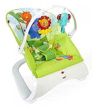 22b716f3f Fisher-Price Hamaca confort y diversión verde, para bebé recién nacido  (Mattel CJJ79): Amazon.es: Juguetes y juegos