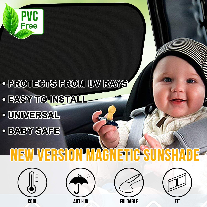 Pack de 2 Unidades WIN.MAX Parasol de Coche,Parasol Coche Bebe,Para Proteger del Sol a beb/és y mascotas,Coche Sun Shade,Parasoles Autoadhesivos,Bloqueo de Rayos UV Nocivos,F/ácil instalaci/ón