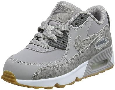 NIKE Air Max 90 Se LTR (PS), Chaussures de Gymnastique Fille, Gris