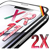 "UTECTION 2X Cristal Templado 3D para Phone 11, iPhone XR (6.1"") - con Marco de instalación - Full Screen Protector de…"