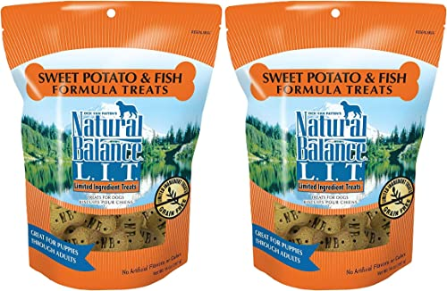 Natural Balance L.I.T. Sweet Potato and Fish Formula Dog Treats 28 ounce 2-pack 14 ounce each
