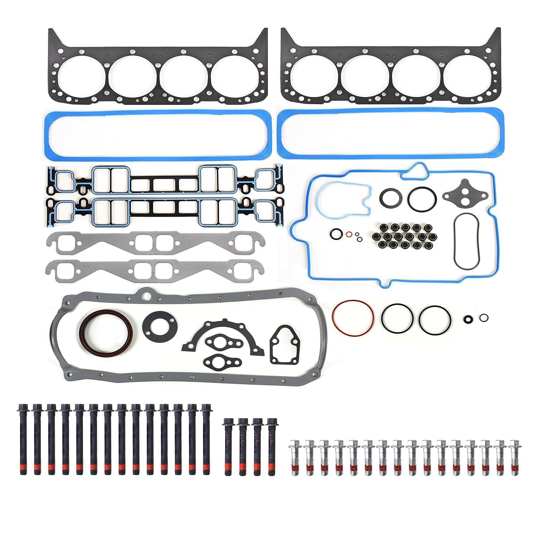 New EFG0170GHB Graphite Full Gasket Set /& Cylinder Head Bolt Kit for 96-02 GMC Chevy Hummer Cadillac 5.7L 350 VORTEC Engine OHV 16V