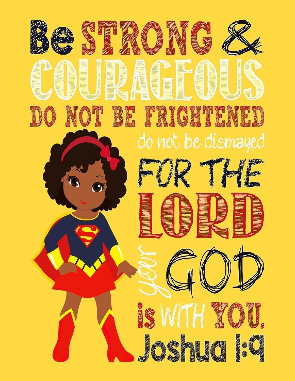 Amazon.com: African American Superhero Set of 4 - Christian Wall Art ...