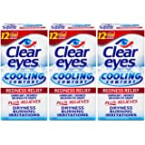 Clear Eyes Cooling Comfort Redness Relief Eye Drops, Soothes Red Eyes, 0.5 fl oz, 3 Pack
