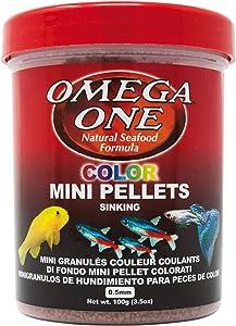 Omega One Color Mini Pellets, Sinking