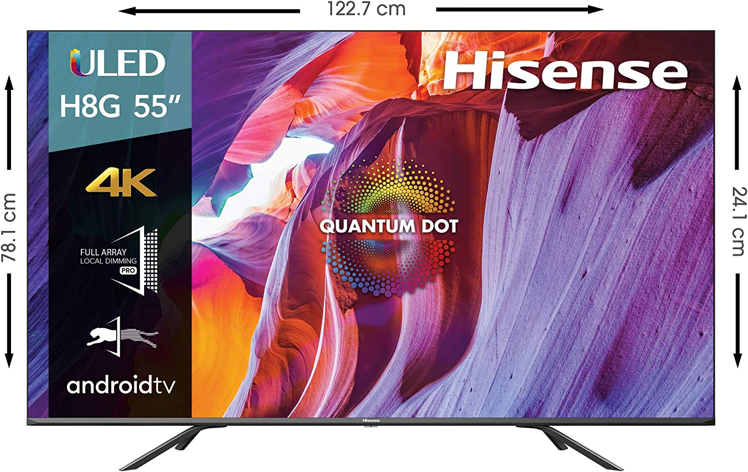 Hisense 55 Inch Class H8 Quantum Series Android 4k Uled Smart Tv With Voice Remote 55h8g 2020 Model Electronics