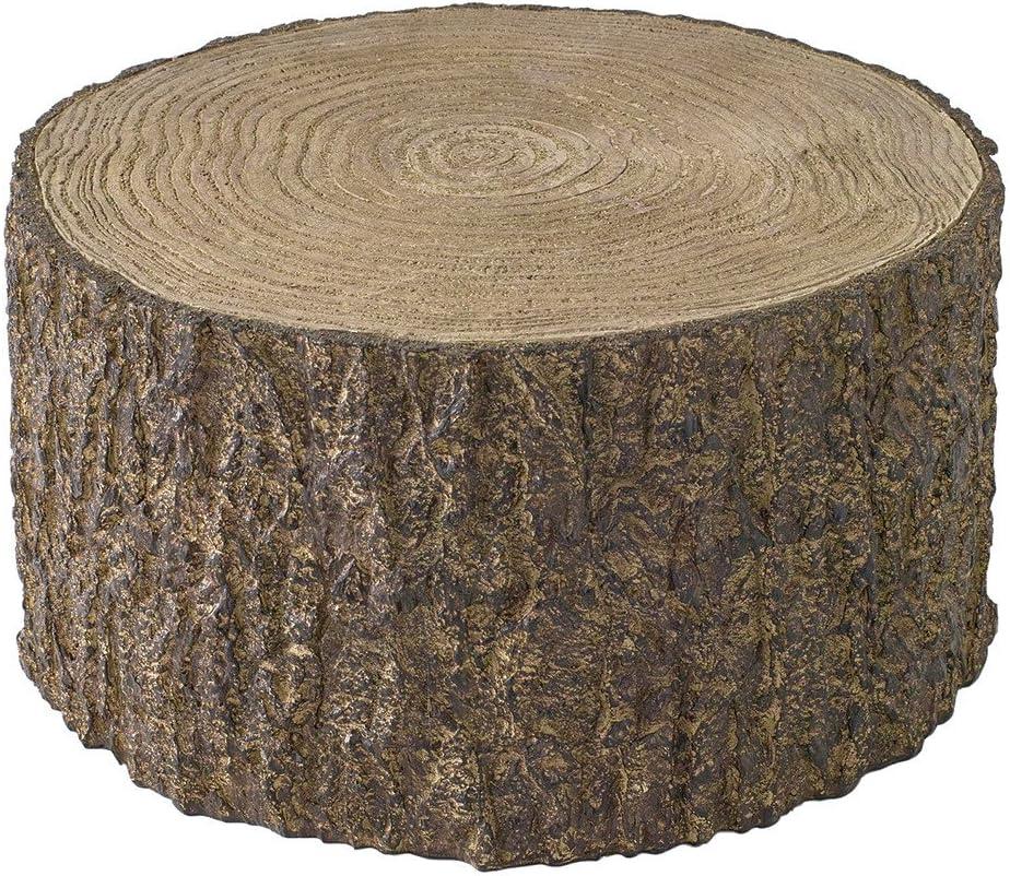 "Time Concept Decorative Resin Stump Display - Extra Large (10.24"" x 5.51"") - Tree Log Design, Home & Garden Decor, Multipurpose Rack"