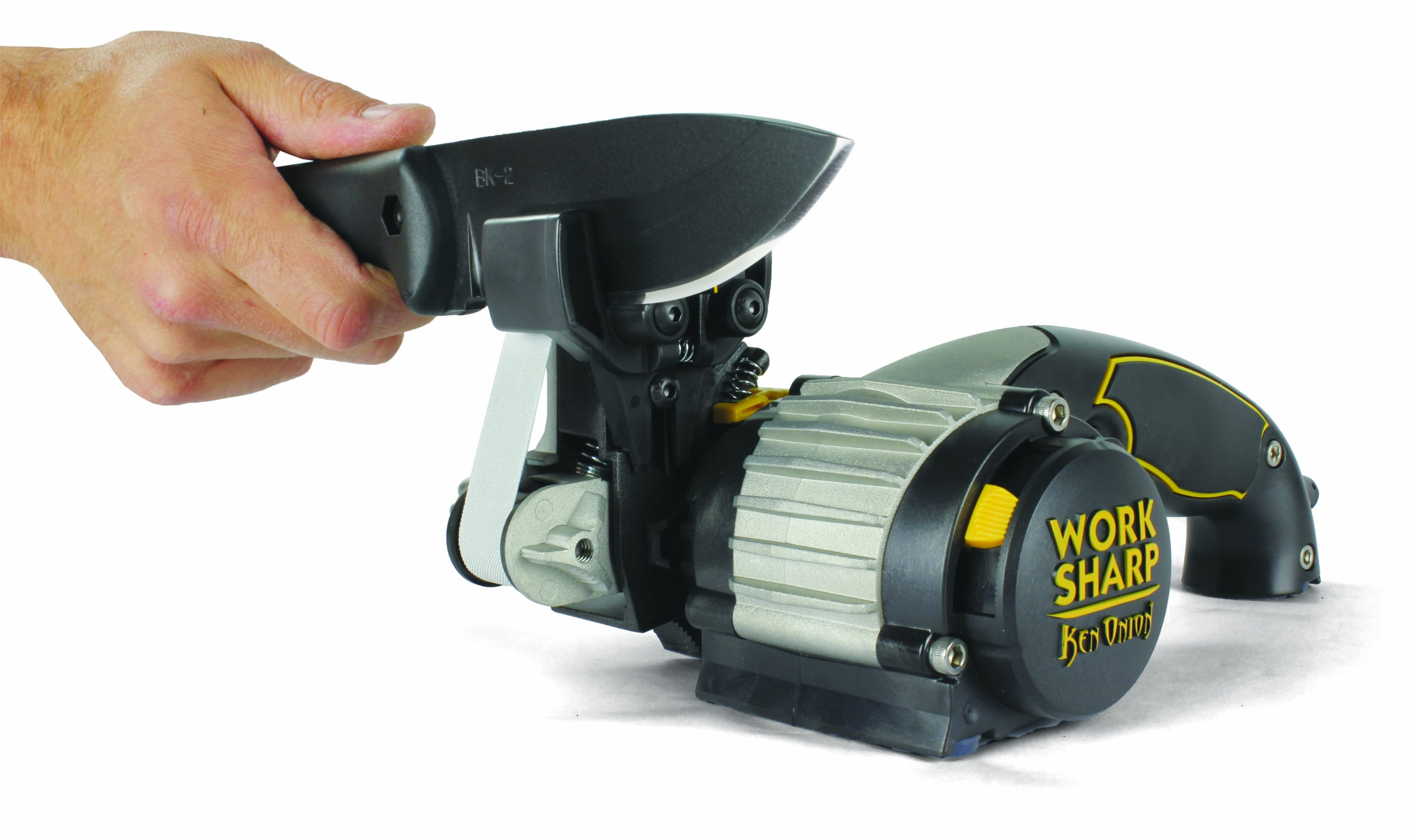 Work Sharp Ken Onion Edition, Fast, Repeatable, & Precision Sharpening from 15° to 30°, Premium Flexible Abrasive Belts, Variable Speed Motor, & Multi-Positioning Sharpening Module by Work Sharp (Image #8)