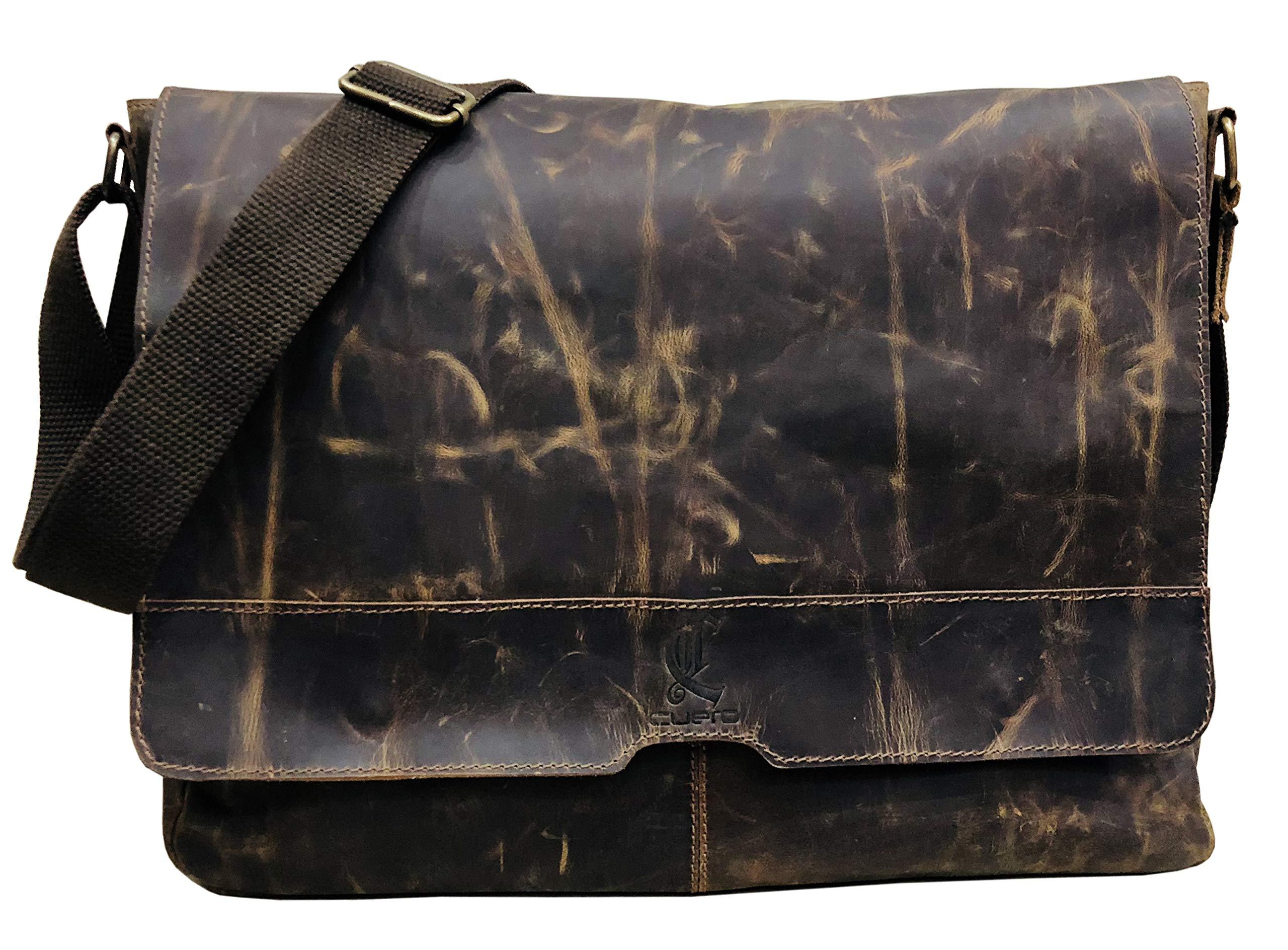16 inch Best Computer Leather Laptop Messenger Bags for Men Leather Satchel Shoulder Bag Man Bag