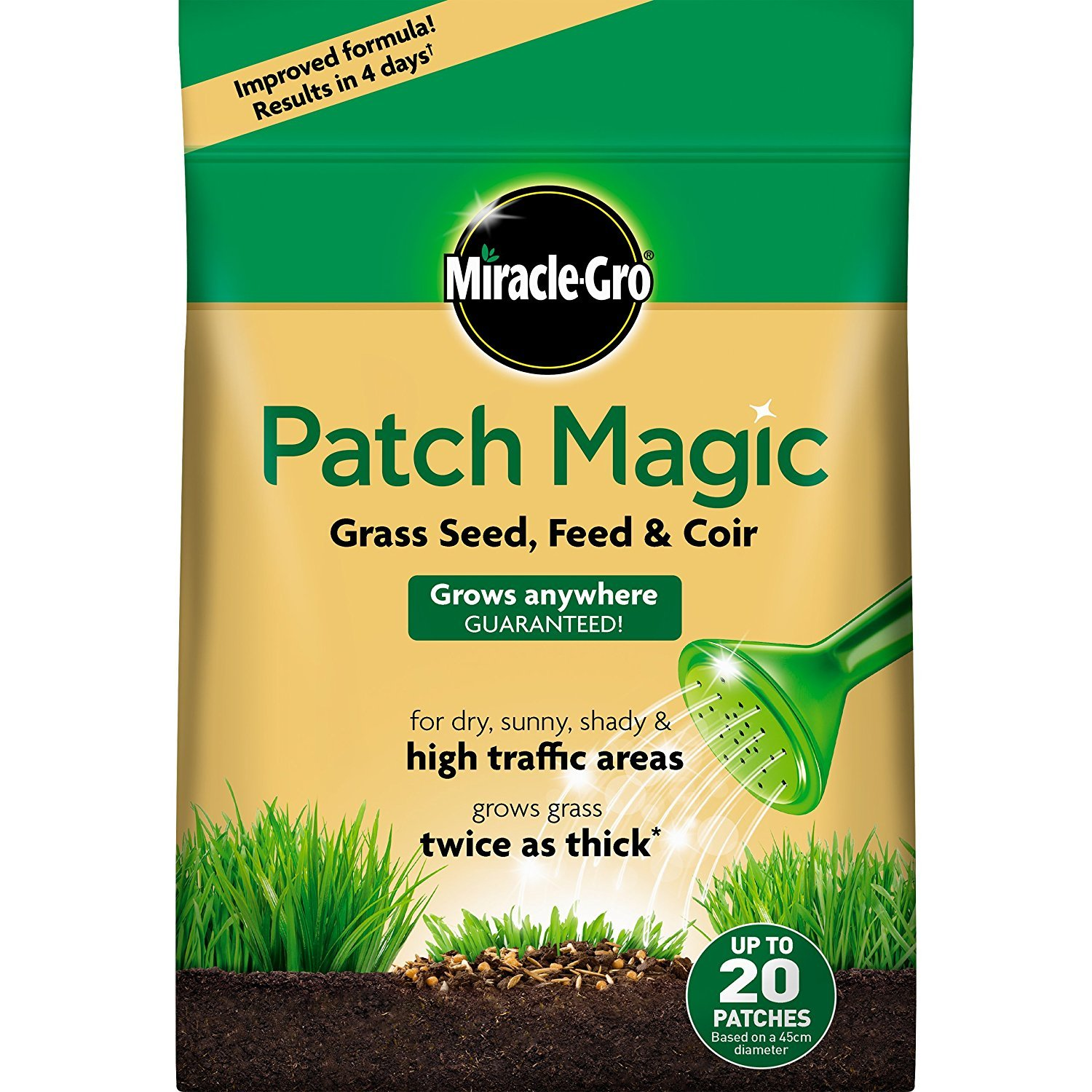 Miracle-Gro Patch Magic Grass Seed, Feed & Coir 1.5kg bag Scotts Miracle-Gro