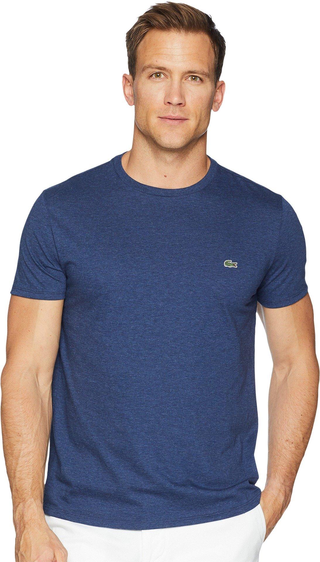 Lacoste Men's Short Sleeve Jersey Pima Regular Fit Crewneck T-Shirt, TH6709-51, Nocturnal Blue Chine, XXX-Large
