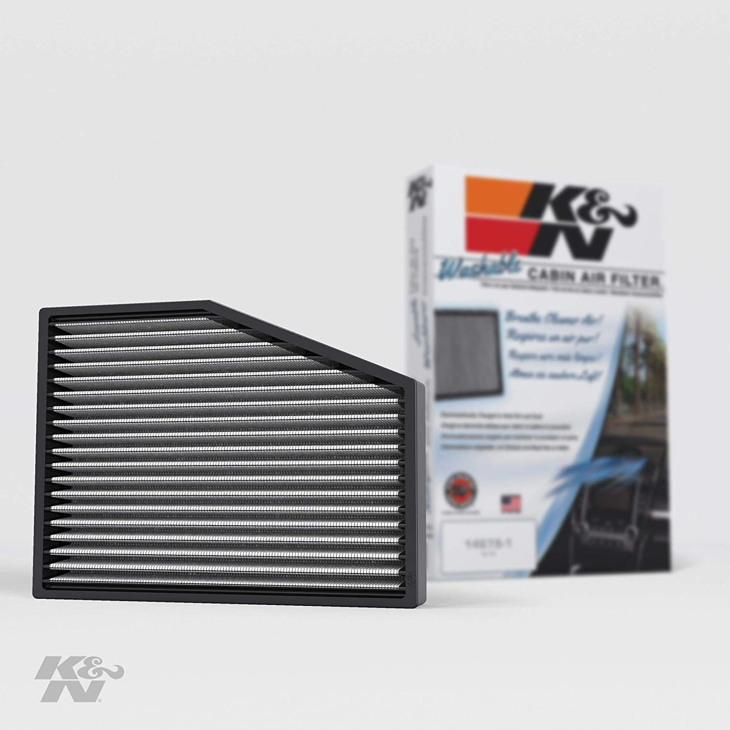 K&N Premium Cabin Air Filter: High Performance, Washable, Lasts for the Life of your Vehicle:Designed For Select 2003-2019 Volkswagen/Audi/Seat/Skoda Vehicle Models, VF3013
