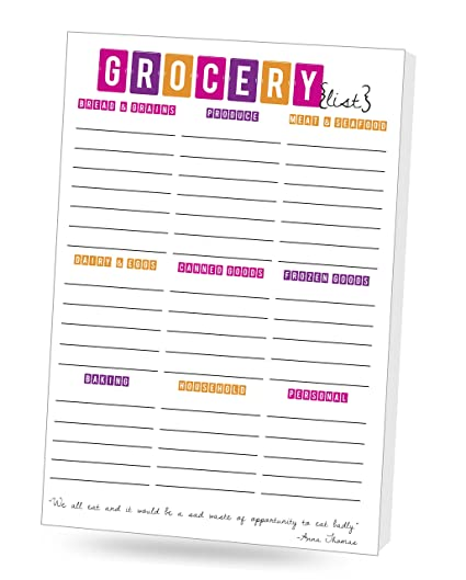 amazon com grocer list 2 pack grocery list office products