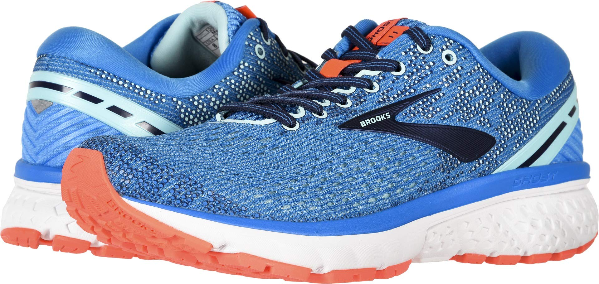 Brooks Women's Ghost 11 Blue/Navy/Coral 5 B US by Brooks (Image #1)