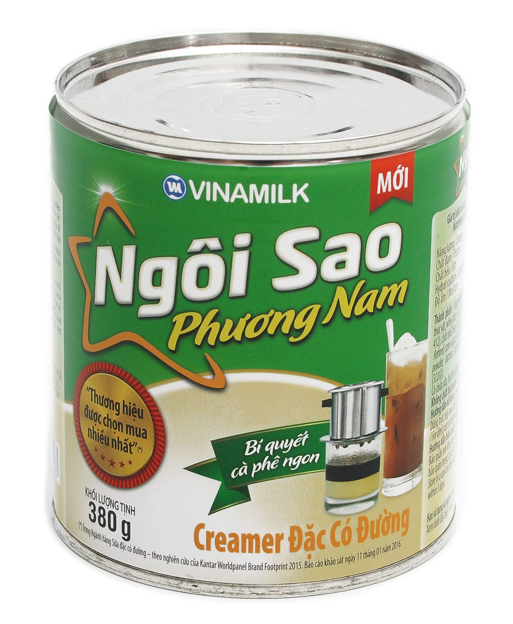 Vinamilk Vietnamese Southern Star Sweetened Condensed Creamer Milk 13.4 oz Can - Green