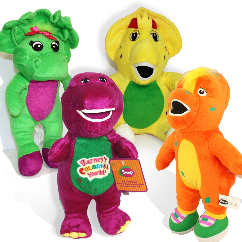 Amazoncom Barney and Friends Baby Bop Bj Plush Stuffed Toys 12