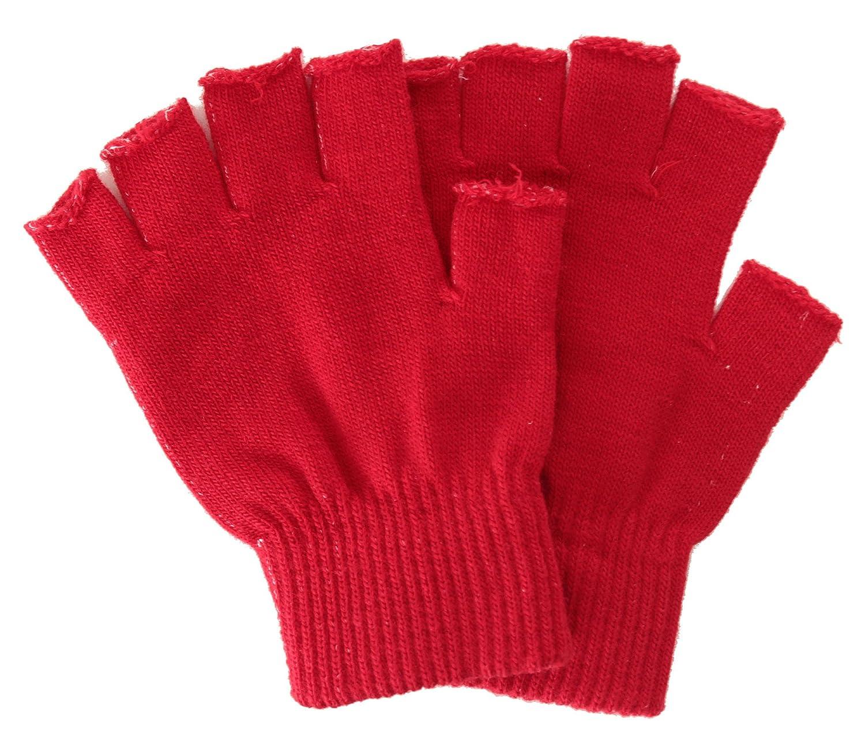 AshopZ Unisex Warm Half Finger Fingerless Gloves Knit Gloves Black