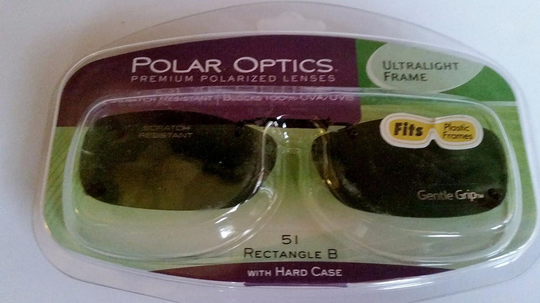 fffd18a844 Amazon.com  Polar Optics 51 Rec B Gray Lenses Ultralight Frame Polarized  Clip-on Sunglasses with Hard Case  Health   Personal Care