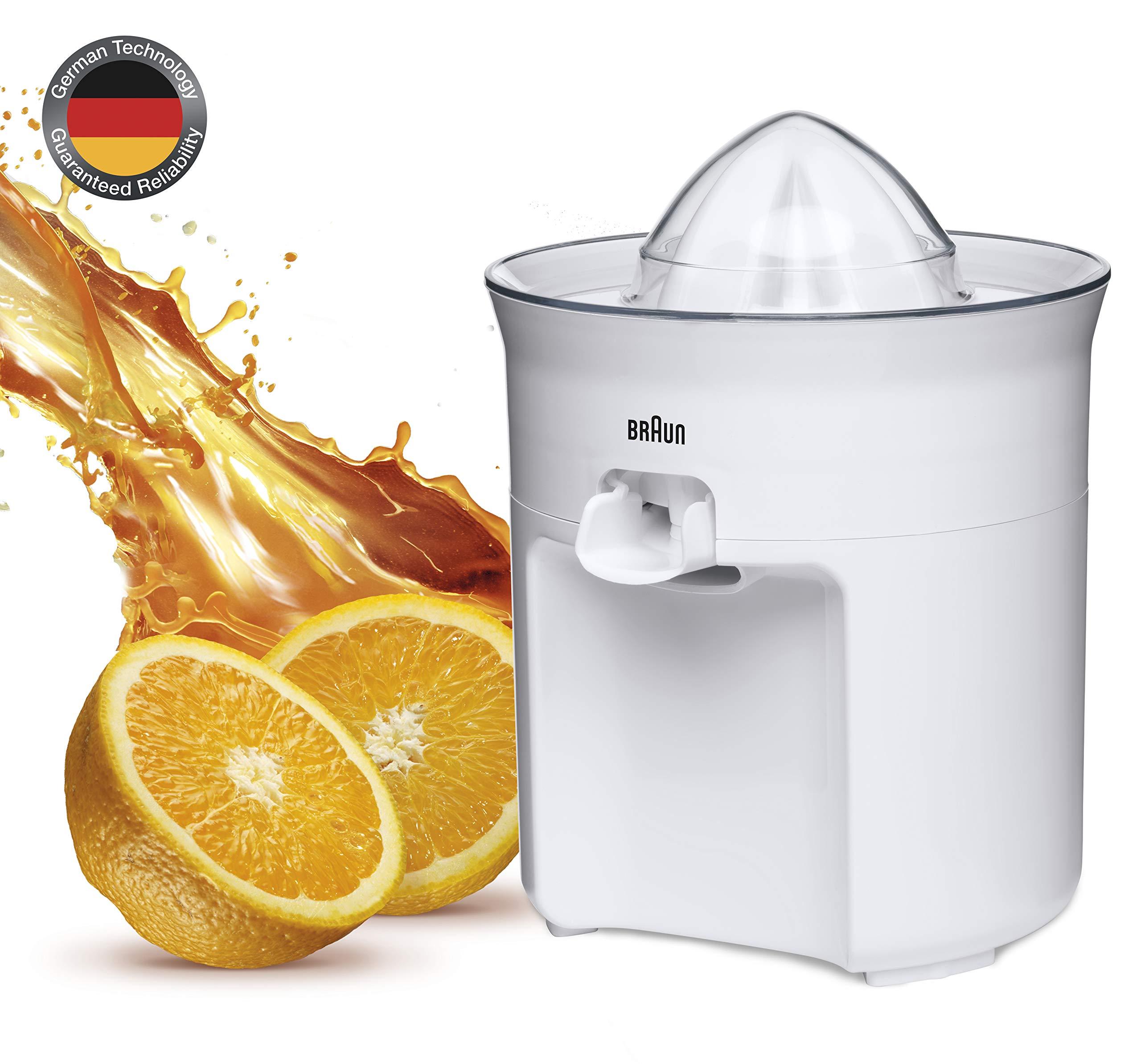 Braun CJ3050 - Exprimidor de Zumo de Naranjas (60 W, surtidor antigoteo, incluye