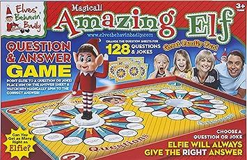 Elves Behaving Badly Elfos Comportándose Mal Mágico Asombroso Elfo Juego de Preguntas y Respuestas - Gran Diversión Familiar: Amazon.es: Juguetes y juegos