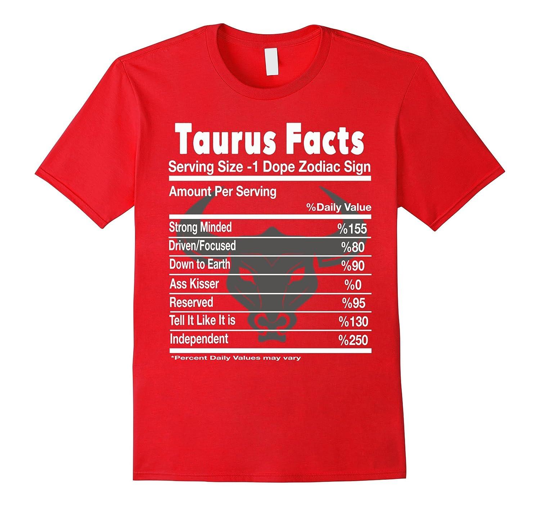 Taurus Facts - Taurus Zodiac Horoscope Astrology Tee Shirt-CD