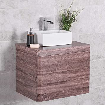 Aquariss Mueble cajonera suspendida A Pared con Lavabo de ...