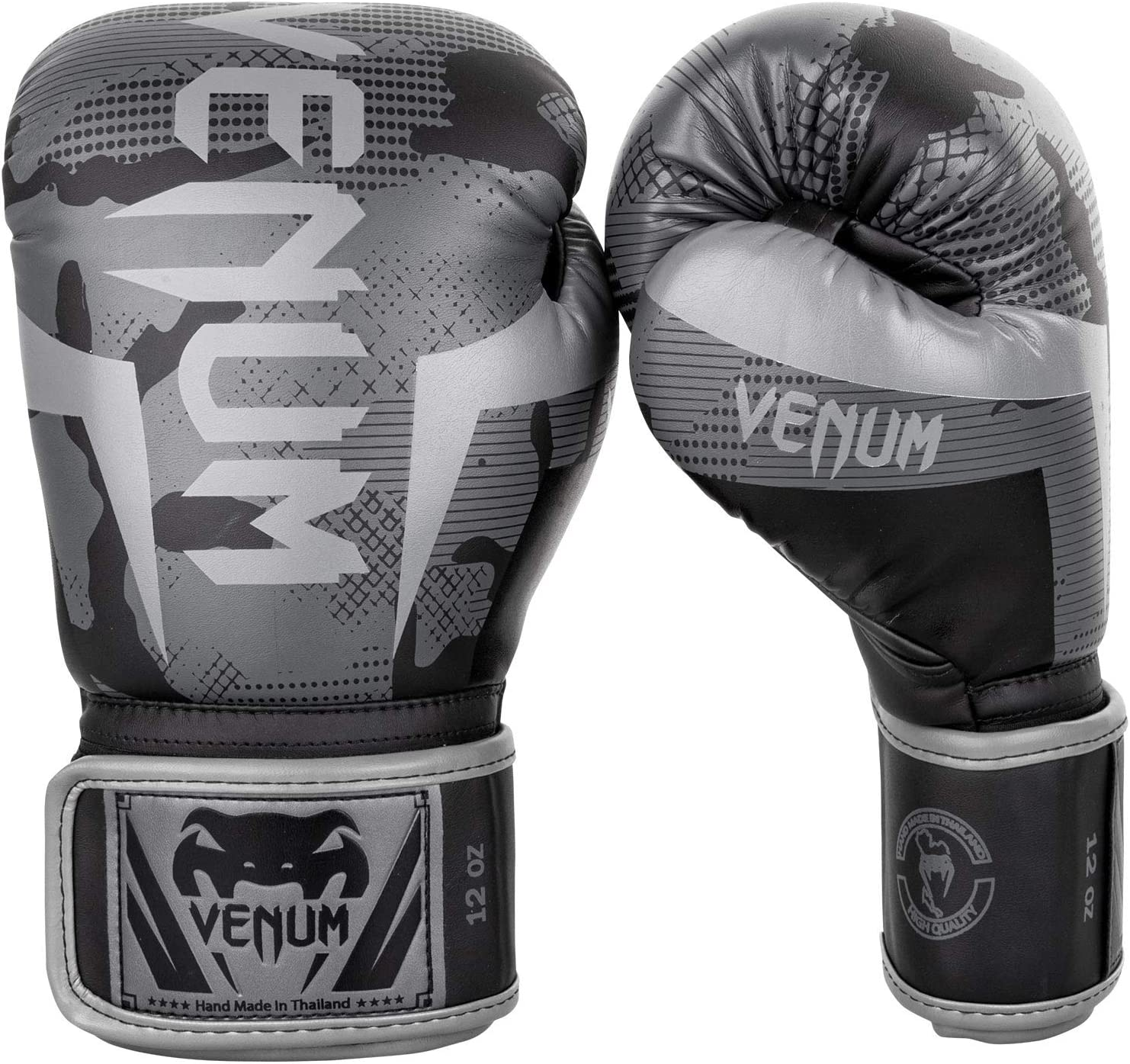 Venum Elite Boxing Gloves White Camo Muay Thai Kickboxing MMA Sparring Training