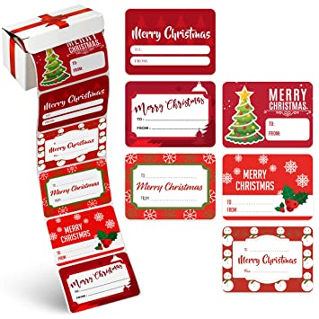 amazon com christmas gift name tags stickers 60 piece bulk set