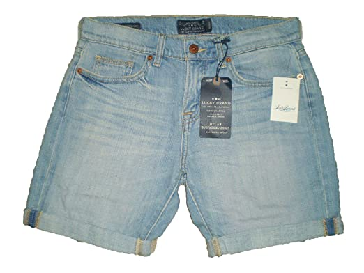 Lucky Brand Dylan Boyfriend Cut Off Denim Distressed Jean Shorts ...