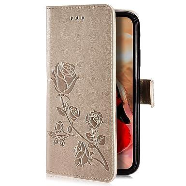 Herbests Kompatibel mit Samsung Galaxy A40 Handyh/ülle H/ülle Flip Case Bunt Muster Leder Tasche Schutzh/ülle Klappbar Bookstyle Lederh/ülle Ledertasche mit Magnet Kartenfach,Rose Blumen