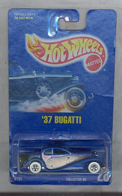 Hot Wheels 2002 #205 1932 Bugatti Type 50 5 Hole Gold Wheels on Metal Collection Card