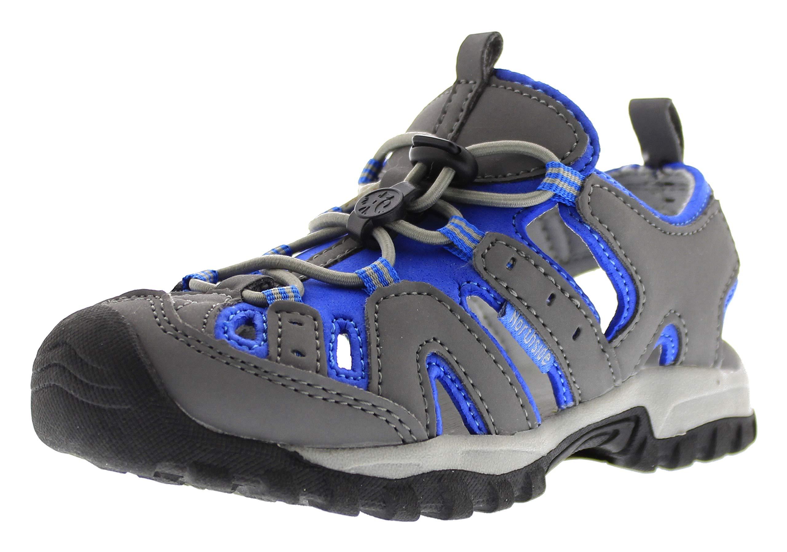 Northside Burke II Athletic Sandal (Toddler/Little Kid/Big Kid) (2 M US Little Kid, Gray/Blue)