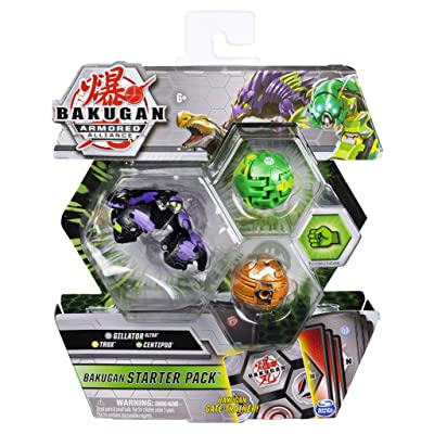 Bakugan Armored Alliance Starter Pack S2 - Darkus Gillator, Collectible Transforming Creatures, for Ages 6 & Up: Toys & Games