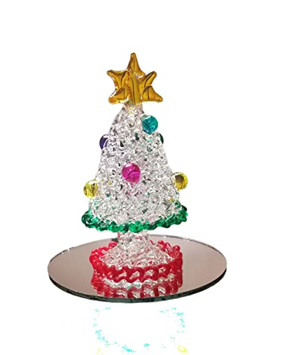 Hand Blown Glass Christmas Tree |Custom Glass Christmas Tree & Bonus  Display Mirror | Made - Amazon.com: Hand Blown Glass Christmas Tree |Custom Glass Christmas