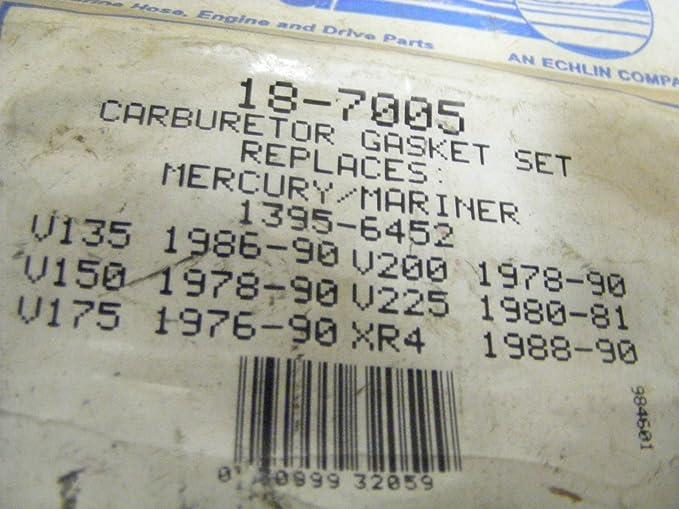 Quicksilver 1395-6452 Carburetor Gasket Kit Sierra 18-7005