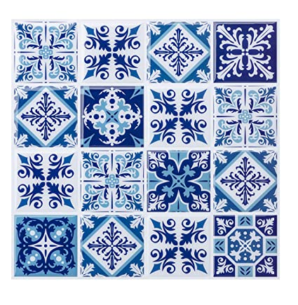 Awesome Peel And Stick Tile For Kitchen Backsplash Mosaic Tile Backsplash Kitchen Backsplash Tiles Peel And Stick Wall Stickers Mexican Tiles Blue 10 X 10 Home Interior And Landscaping Synyenasavecom