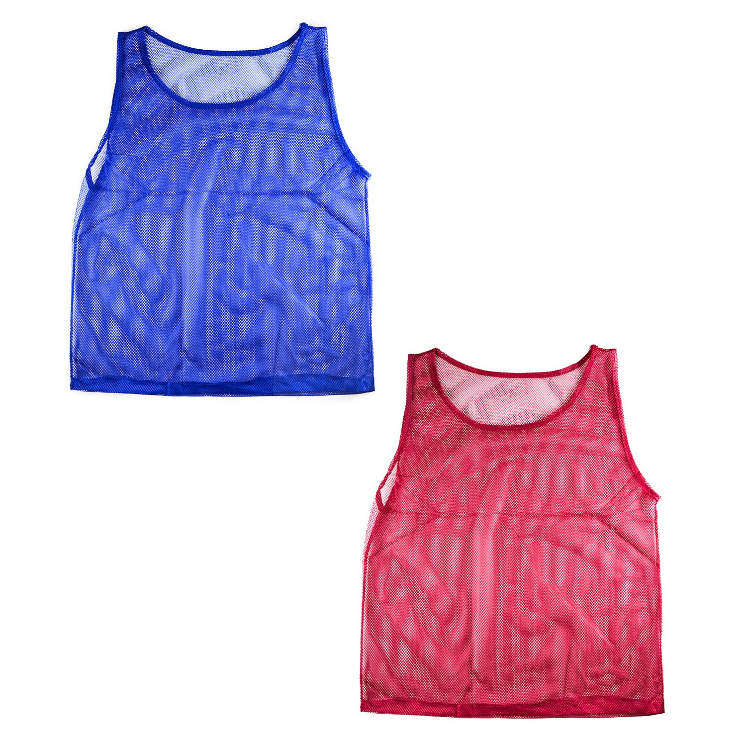 Nylon Mesh Scrimmage Team Practice Vests Pinnies Jerseys for Children Youth Sports Basketball, Soccer, Football, Volleyball (12 Jerseys) by Super Z Outlet (Image #2)