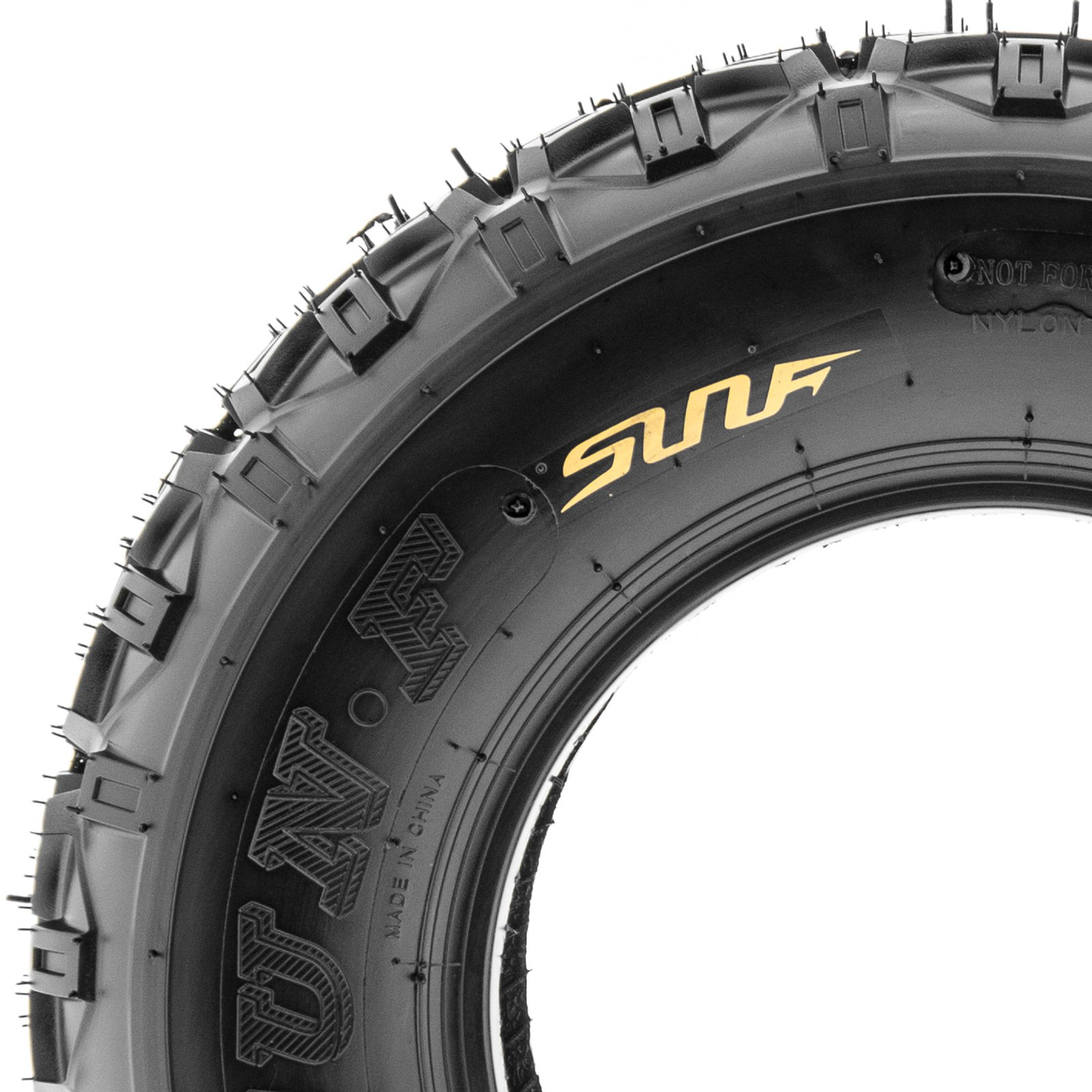 SunF Knobby XC MX ATV Tires 21x6-10 & 20x11-9 6 PR A035 (Full set of 4, Front & Rear) by SunF (Image #5)
