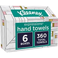 6-Pack Kleenex Expressions Disposable Paper Hand Towels 60-Count Boxes (360 total towels)