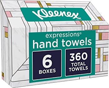 6-Pack Kleenex Expressions Disposable Paper Hand Towels